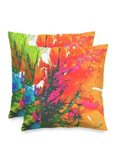 Blossoming 10-f - Square Pillow by Eliora BOUSQUET Red Pillows, Accent Pillows, Throw Pillows, Black Garden, Decoration, Pillow Covers, Creations, Abstract, Create