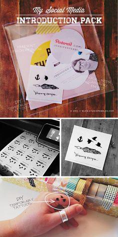 StudioPebbles // Social Media Introduction pack // DIY temp tattoos