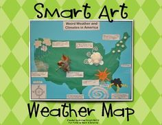 Smart Art:  Weather Map  {Fun, hands-on project for children learning about weather.}  $