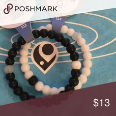 """💥Labor Day Sale💥Silicone Lokai Style Bracelets One opaque white and one black silicone bracelet. Fit 6.5"""" wrist, fun, trendy and chic Lokai Jewelry Bracelets"""