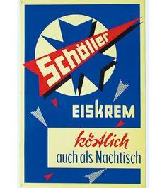 Schöller Nostalgie: Historische Eis-Plakate: Zurück in die Eis-Zeit!