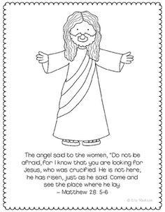 He Is Risen Jesus Alive Coloring Page Craft Or Poster Bible Verse Easter