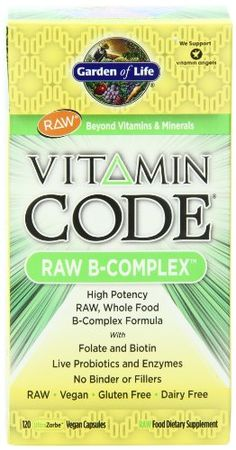 Vitamin Code Raw B-Complex by Garden of Life - Buy Vitamin Code Raw B-Complex 60 Veggie Caps at vitamin shoppe Garden Of Life Vitamins, Live Probiotics, Vitamins For Energy, Organic Supplements, Cellular Energy, Vitamin B Complex, Juice Plus, Health Shop, Medicinal Herbs