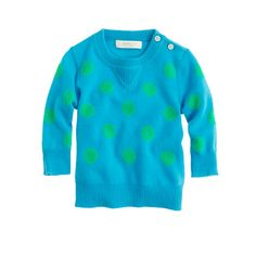 Collection cashmere baby sweater in polka dot