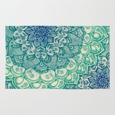 Emerald Doodle Rug by Micklyn - $28.00