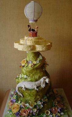 Beautiful fantasy cake (Neverending Story?), by Cake Stuff.
