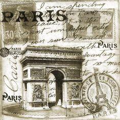 Bilder på veggen til felleskapet Vintage Paris, Vintage Labels, Vintage Postcards, Vintage Pictures, Vintage Images, Collages D'images, Images Noêl Vintages, Etiquette Vintage, Paris Images