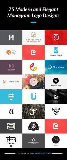 Logo design inspiration: 75 Modern Monogram Logos - http://ibrandstudio.com/inspiration/monogram-logo-designs