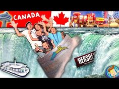 NIAGARA FALLS ON OUR HEAD! Boat Ride & White Water Rapids! Trip CANADA pt. 2 (FUNnel Vision Vlog) - YouTube