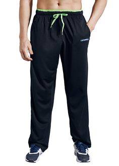 7c088f05a LUWELL PRO Men s Sweatpants Pockets Open Bottom Athletic Pants Jogging