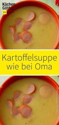 Klassische Kartoffelsuppe Sometimes it has to be something classic. And what better way than the potato soup of grandma? Hearty spiced and with delicious Viennese [. Sausage Recipes, Soup Recipes, Biscuits, Potato Soup, Superfood, Cooking Time, Food Inspiration, Food Porn, Good Food