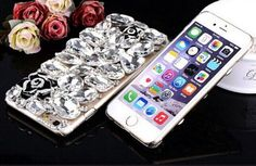 3D Luxury Bling Camellia Flower Diamond Phone Case Cover For iphone 7 7 PLUS Crystal jeweled Cases For Girls