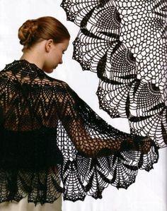 Роскошная шаль-накидка / Вязание крючком / Женская одежда крючком. Схемы и описание