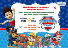 Festa Patrulha Canina 4th Birthday, Birthday Parties, Cumple Paw Patrol, Sylvia Day, Kairo, Lucca, Irene, Party Ideas, Paw Patrol Decorations