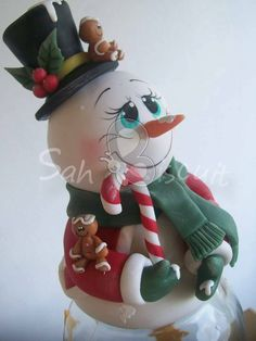 *SORRY, no information as to product used ~ Cute snowman