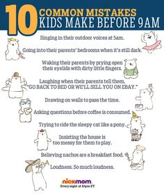 10 Common Mistakes Kids Make Before 9am | More LOLs & Funny Stuff for Moms | NickMom