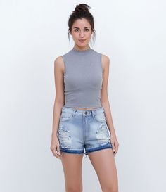 a0f1c4a634 Blusa Cropped - Lojas Renner. Blusinhas Cropped