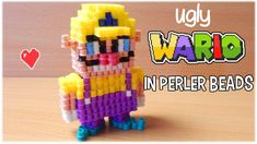 3D Perler Beads Tutorial UGLY WARIO (Nintendo) - YouTube
