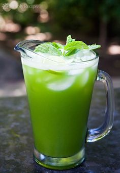 Cucumber Lime Mint Agua Fresca ~ Cool and refreshing agua fresca, made with cucumbers, lime, and mint. Perfect for hot days! ~ SimplyRecipes.com