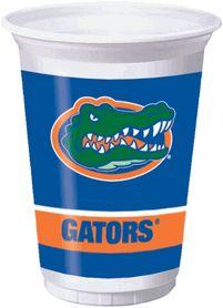 University of Florida Gators 20 oz Plastic Cup 8-count #TeamTailgateShop