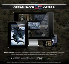 America's Army Comics tell the story of U.S. Soldiers deployed to Czervenia, a tiny foreign nation in the middle of a chaotic conflict. What starts as a humanitarian relief effort quickly escalates into something much more dangerous and mysterious that could change the course of the world. via IDW Publishing
