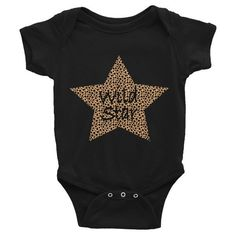 Leopard Wild Star Infant short sleeve one-piece