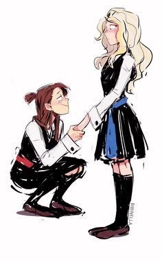 Kagari Akko and Diana Cavendish. Little Witch Academia Diana, Little Wich Academia, Comic Yuri, Puppy House, Yuri Anime, Big Hero 6, Lgbt, Bisexual Pride, Poses