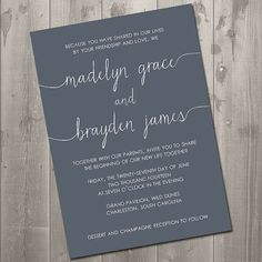 Scribble Wedding Invitation - DIY Printable Invitation