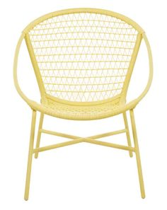 Varese Lemon Yellow Chair. Beautiful Outdoor Wicker Chair Available From  Petite Retreat Outdoor Furniture Sydney