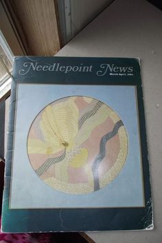 Needlepoint News Vintage Back Issue March April 1984 Craft Winter Lynx Queen Mar #NeedlepointNews