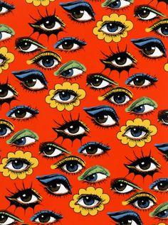 60s Eye Pattern by Corinne Elyse Photo Wall Collage, Collage Art, Aesthetic Iphone Wallpaper, Aesthetic Wallpapers, Wall Prints, Poster Prints, Eyes Wallpaper, Eye Pattern, Hippie Art
