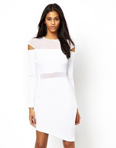 beautiful white dress with cut-out detail