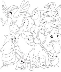 Fire Pokemon -Line- by TheRaineDrop on DeviantArt Cute Coloring Pages, Printable Coloring Pages, Free Coloring, Adult Coloring Pages, Coloring Pages For Kids, Coloring Books, Pokemon Coloring Sheets, Pikachu Coloring Page, Colouring Sheets