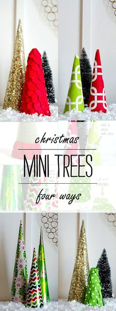 Mini Trees 4 Ways - It All Started With Paint