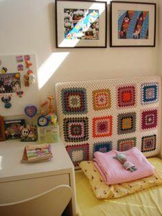 Faça você mesmo: cabeceira de cama de crochê