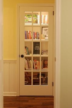 Turn a coat closet into a library and add French doors.*Shopping Candy* : My House - Before After pictures New Homes, Decor, Remodel, House, Home Organization, Home, Interior, Home Diy, Home Decor