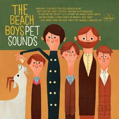 The Beach Boys - Pet Sounds cover art illustrated by Andrew Kolb