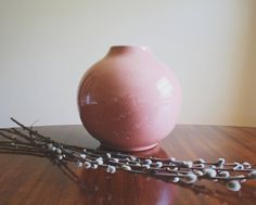 A personal favorite from my Etsy shop https://www.etsy.com/listing/524051646/blush-pink-flower-vase-boho-decor-large
