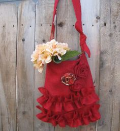 Valentine Romantic Burlap Tote Bag with Three by supplierofdreams, $52.00