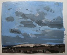 Garden Hill Long View Original Sky Landscape Collage by Paintbox