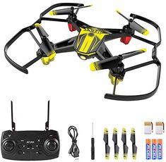 Mini Drone for Kids and Beginners Kids Drone with Altitude Hold One Key Takeoff/Landing Headless Mode 3 Speed Modes Flips Emergency Stop Good Choice for Drone Training Instruments Accessories Figures-Playsets Figures Drone Quadcopter, Drones, Toys For Boys, Cool Toys, Hold On, Led, Lights, Mini, Ebay