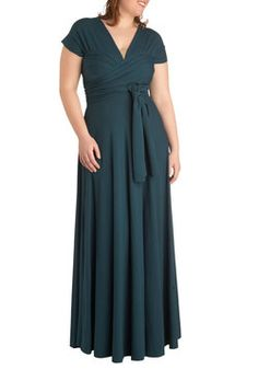 Swish it Up Maxi Dress in Teal - Plus Size, #ModCloth Hey, a multi-way dress that actually looks good!