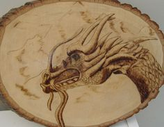 Cool dragon wood burning
