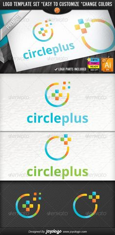 Cube circle pixel media plus logo design package — vector eps media logo # Circle Logo Design, Logo Design Template, Logo Templates, Logos, Logo Branding, Cubes, Design Package, Funny Health Quotes, Square Logo