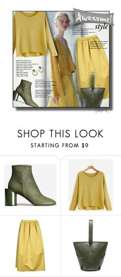 """""""Awesome Style - Yellow & Olive"""" by gracekathryn ❤ liked on Polyvore featuring Maison Margiela, Rochas, Segolene Paris, House of Harlow 1960, fashionset and womensFashion"""