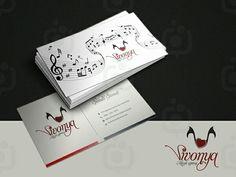 Vivonya müzik kartvizit çalışmam. .