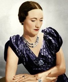 Wallis Warfield Simpson rocked the British  Monarchy when King Edward VIII abdicated the throne to marry a twice divorced American. They were exiled to Paris, and became The Duke and Duchess of Windsor