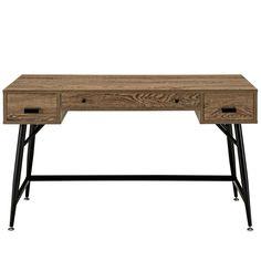 Modern Wood-Grained Patterned Melamine Office Desk – First of a Kind