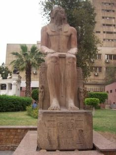 another decoration of the Arab republic parks, the statue of a native African pharaoh completely defaced Ancient Egyptian Art, Ancient Symbols, Ancient History, Ancient Egypt Pictures, Cairo Museum, The Bible Movie, Arte Tribal, Black History Facts, African History