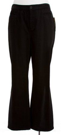 Lauren Jeans Co. By Ralph Lauren Manhattan Black Cotton Straight Leg Jean Pant (22W) Ralph Lauren. $43.97